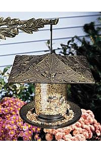 "6"" Oakleaf Tube Bird Feeder"
