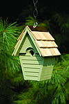 Wren-in-the-wind Bird House - Celery