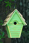 Wren-in-the-wind Bird House - Green Apple