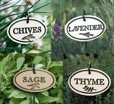 Ceramic Herb And Vegetable Markers