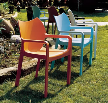 Diva Outdoor Dining Arm Chairs Set Of 4 Commercial Grade