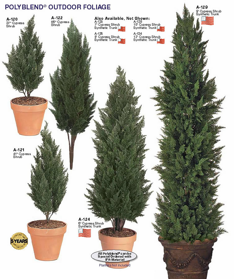 Artificial outdoor tall evergreen trees other artificial for Tall evergreen trees for small gardens