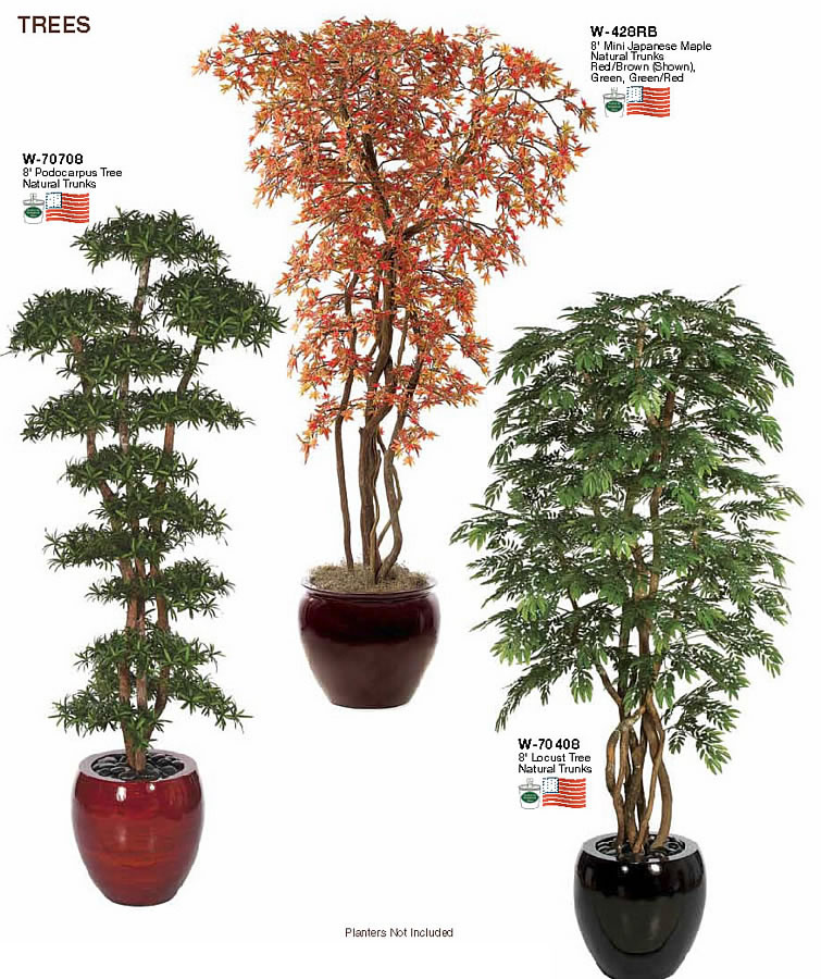 Tall Decorative Indoor Trees: Artificial Indoor Trees & Bushes