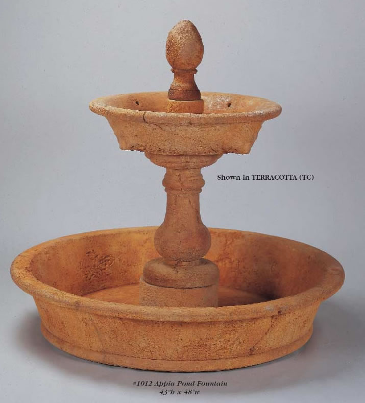 Appia Pond Outdoor Water Fountain Water Fountains With Ground Pools