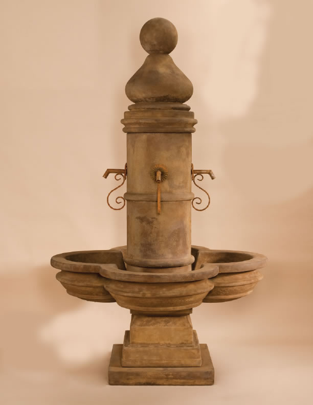 Beaumont fountain for rustic iron spouts display water spouts - Decorative water spouts ...