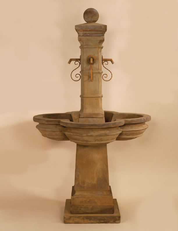 Bourdoux water fountain for rustic iron spouts display water spouts - Decorative water spouts ...