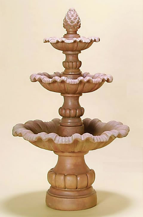 Outdoor halloween decorations for trees - Garda 3 Tier Outdoor Water Fountain Tiered Scupper Fountains