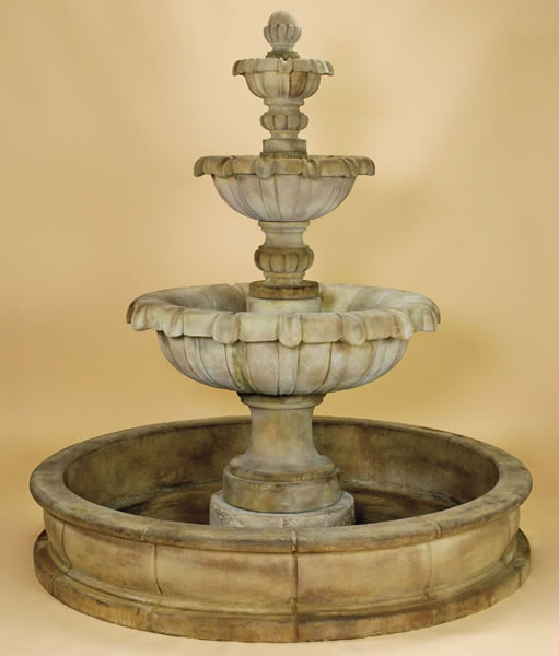 Jardin 3 tier pond water fountain for outdoors water for Pond water fountains