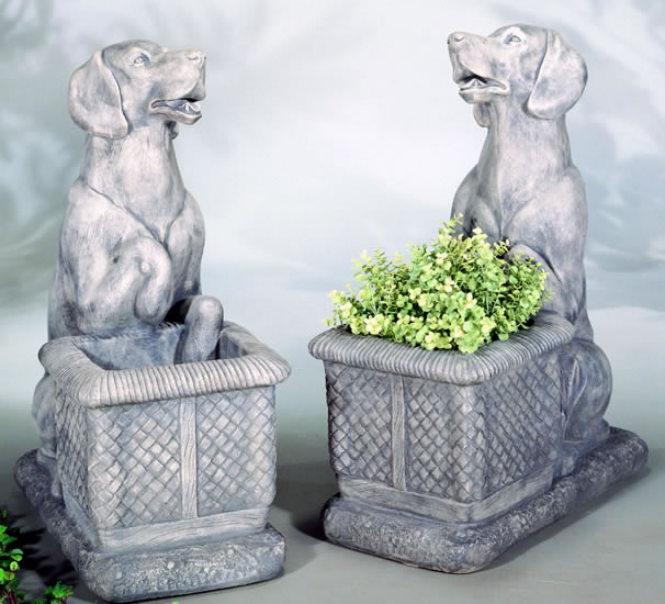 Labrador Dog Planter Statue Medium Outdoor Planters