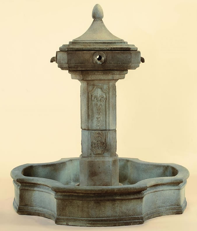 Concrete Water Fountain Pools : Marseilles pond outdoor water fountain fountains