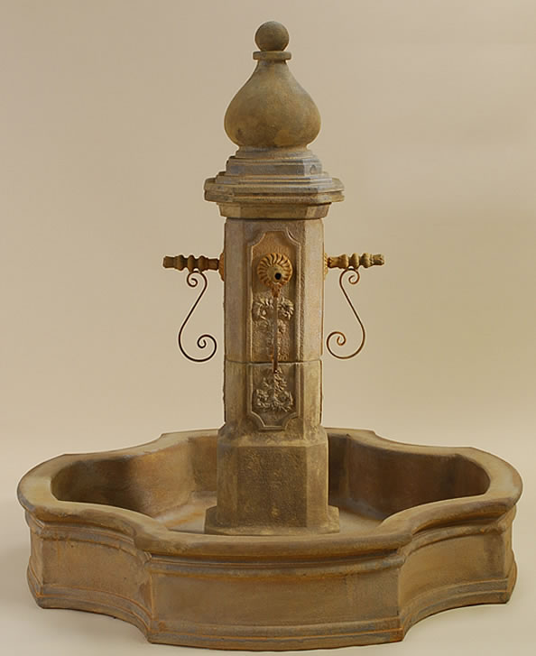 Monaco pond water fountain for spouts spout water features with pool - Decorative water spouts ...