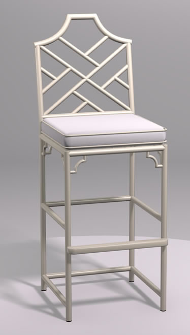 Chinese Chippendale Barstool