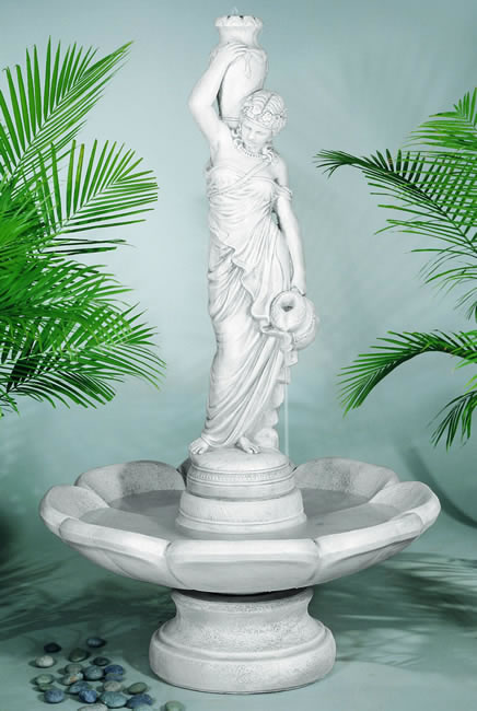 Grecian Rebecca Fountain Statue Only Human Form Water