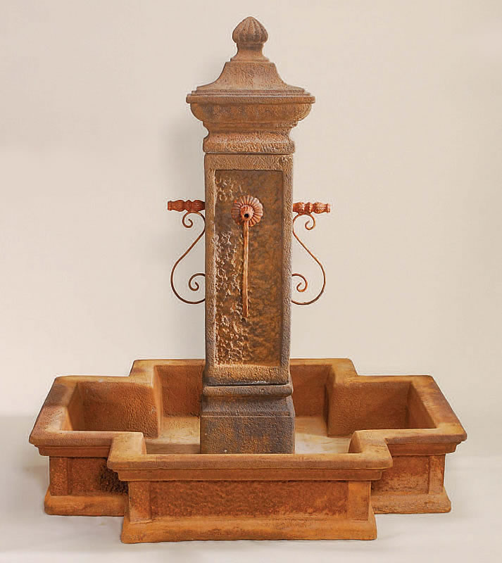San martino water fountain with pond for rustic spouts spout water features with pool - Decorative water spouts ...