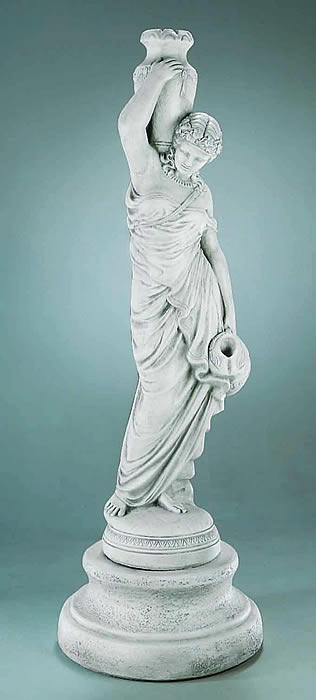 Grecian Rebecca Fountain Statue Only Human Form Statues