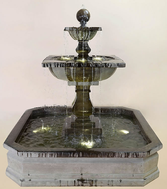 Solara Quadra Pond Water Fountain Water Fountains With Ground Pools