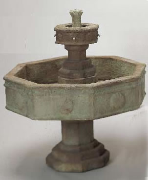 Volterra Two Tier Outdoor Concrete Water Fountain